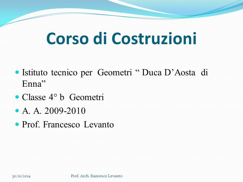 Corso di Costruzioni Istituto tecnico per Geometri Duca D'Aosta di Enna Classe 4° b Geometri.