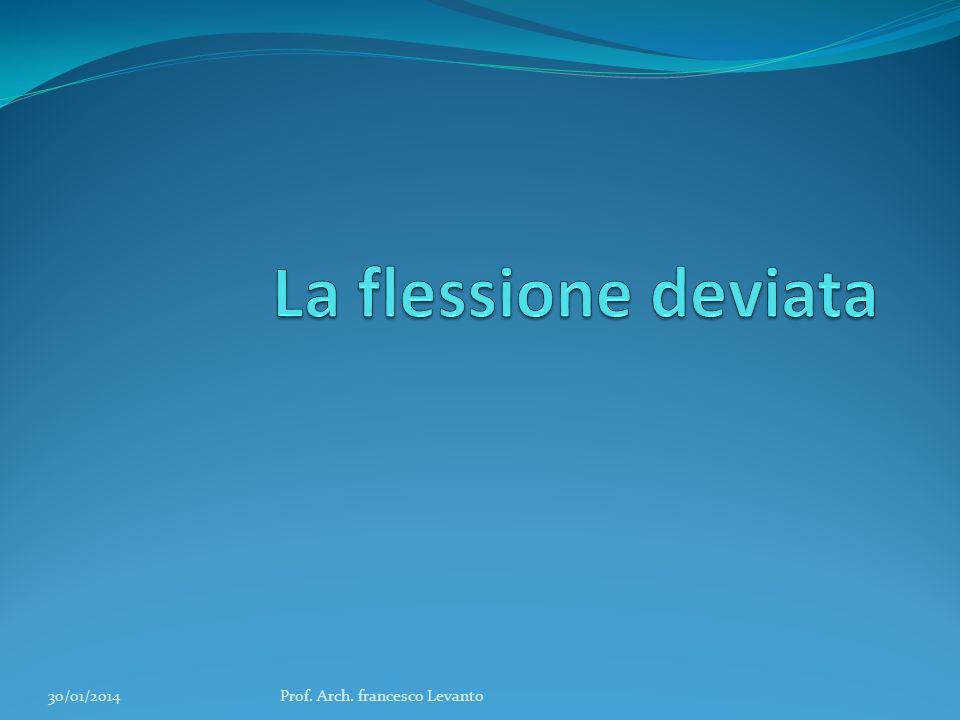La flessione deviata 27/03/2017 Prof. Arch. francesco Levanto