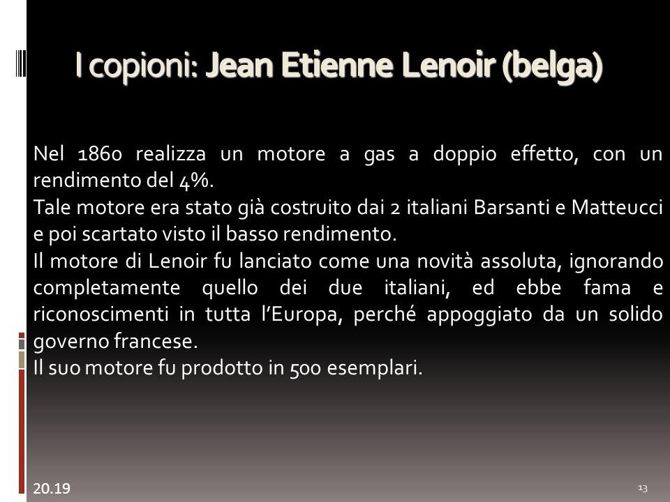 I copioni: Jean Etienne Lenoir (belga)