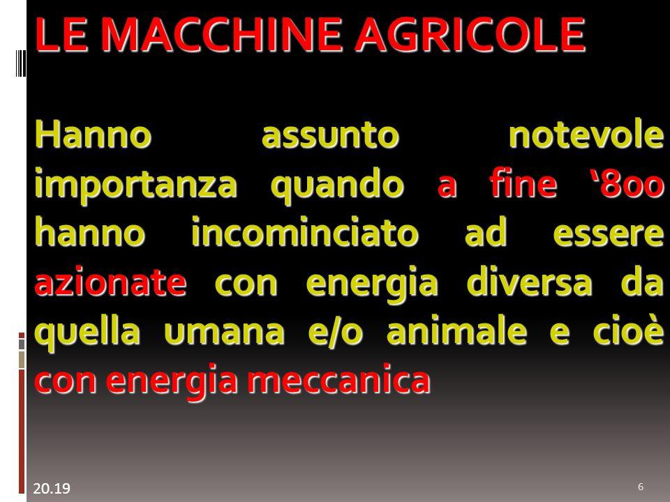 LE MACCHINE AGRICOLE