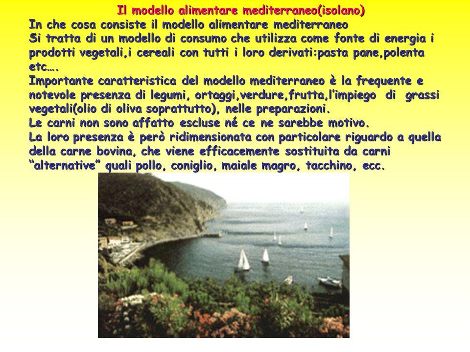 Il modello alimentare mediterraneo(isolano)