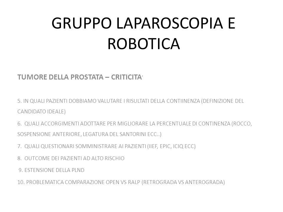 GRUPPO LAPAROSCOPIA E ROBOTICA