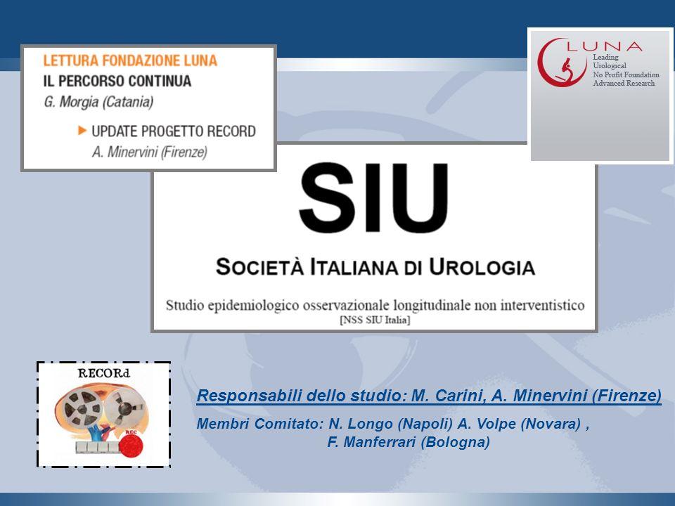 Responsabili dello studio: M. Carini, A. Minervini (Firenze)