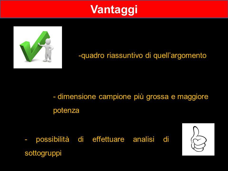 Vantaggi -quadro riassuntivo di quell'argomento