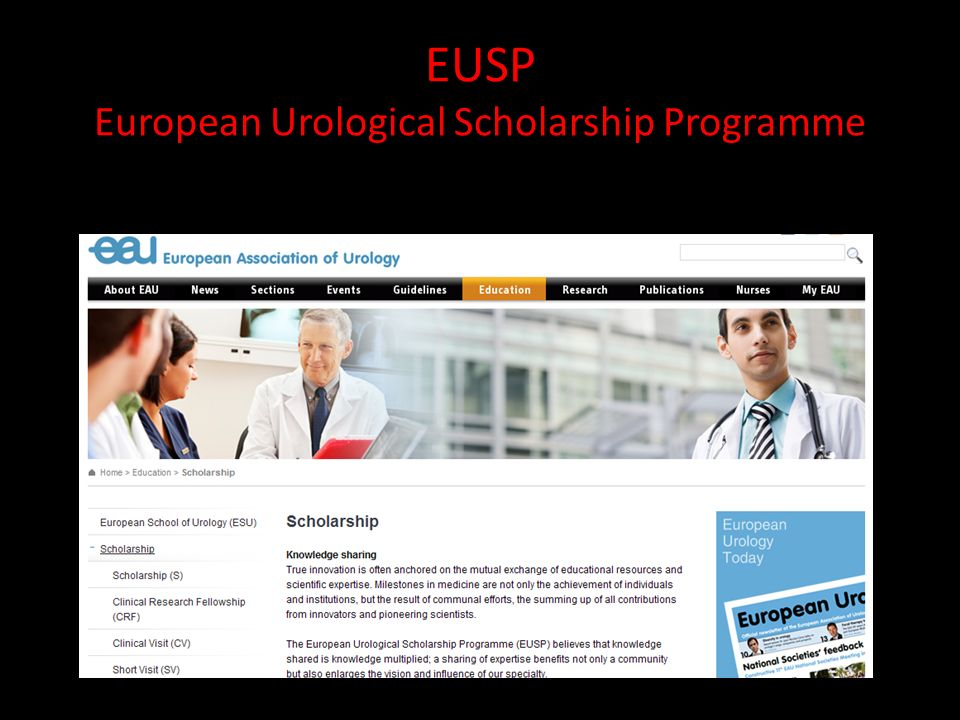EUSP European Urological Scholarship Programme