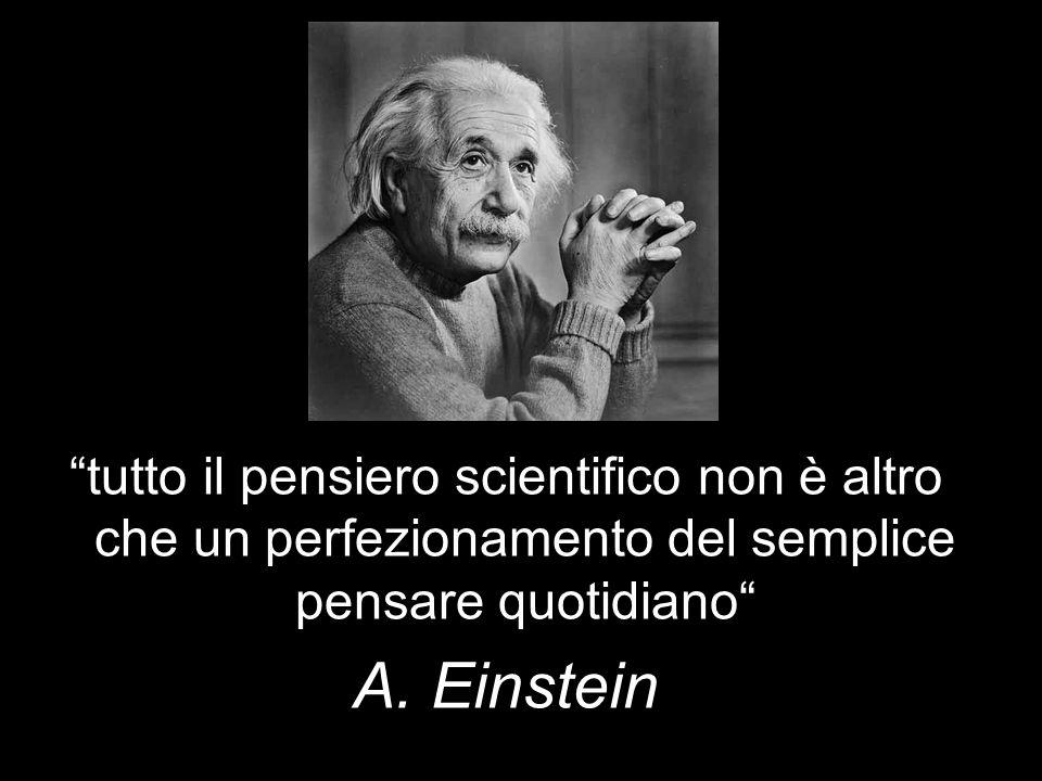 tutto il pensiero scientifico non è altro che un perfezionamento del semplice pensare quotidiano