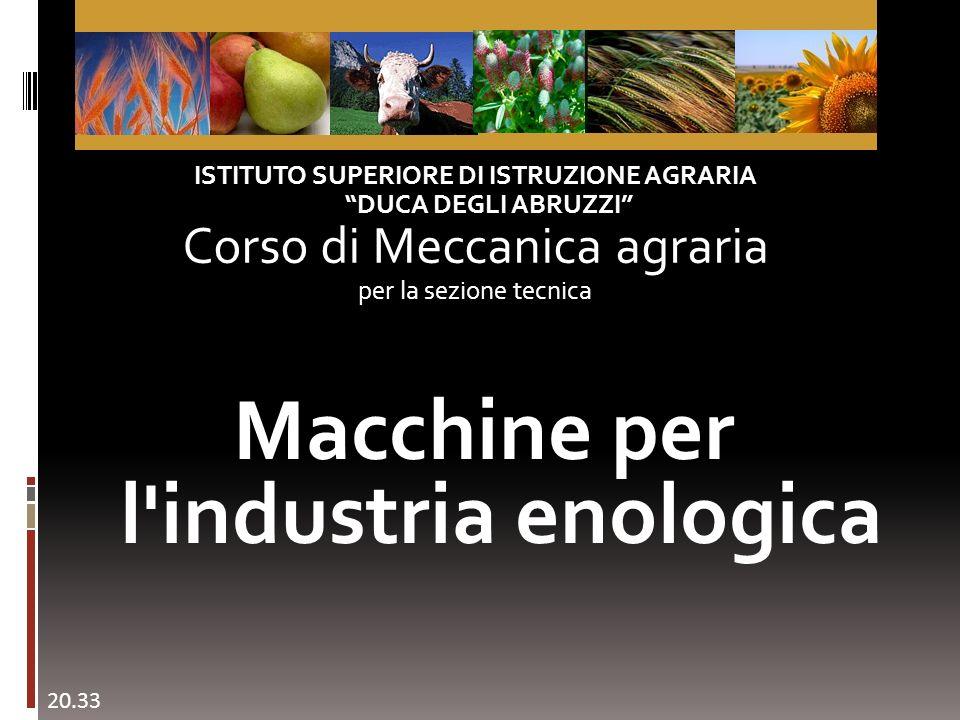 Macchine per l industria enologica