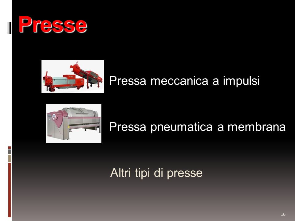 Presse Pressa meccanica a impulsi Pressa pneumatica a membrana