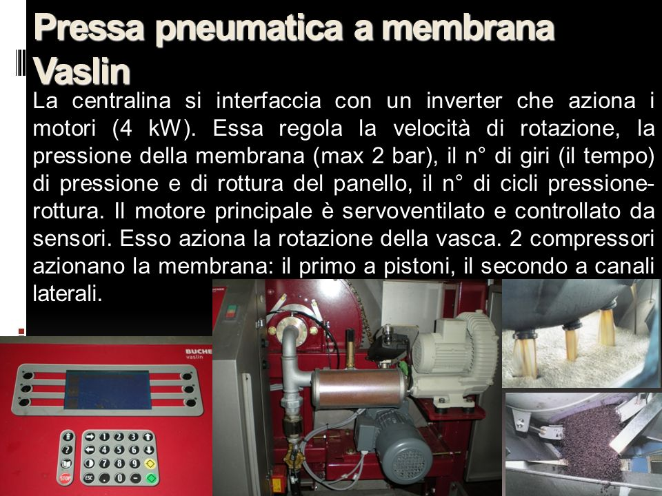 Pressa pneumatica a membrana Vaslin
