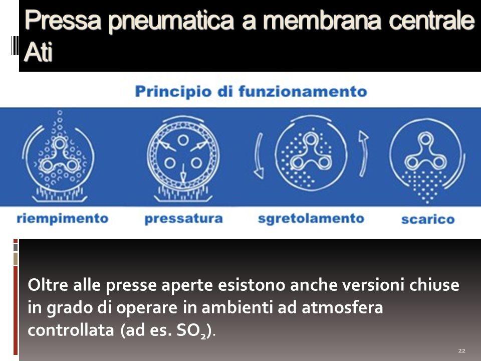 Pressa pneumatica a membrana centrale Ati
