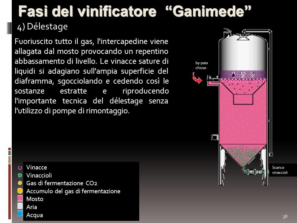Fasi del vinificatore Ganimede