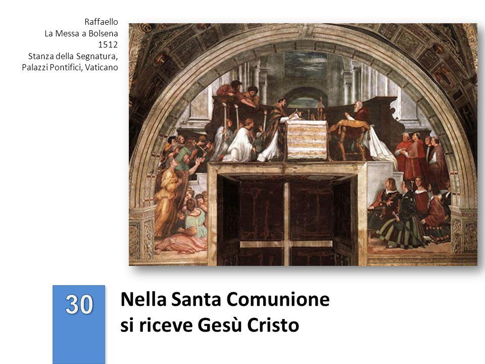 Nella Santa Comunione si riceve Gesù Cristo