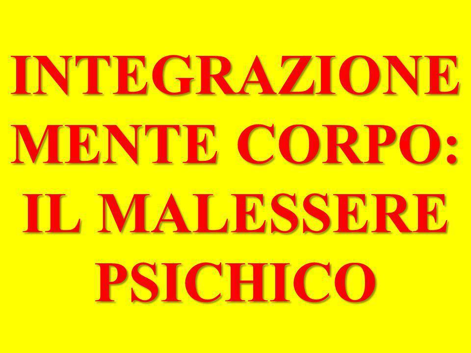 INTEGRAZIONE MENTE CORPO: IL MALESSERE PSICHICO