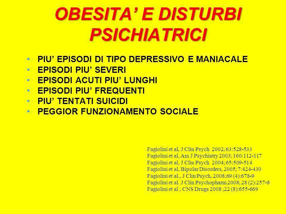 OBESITA' E DISTURBI PSICHIATRICI