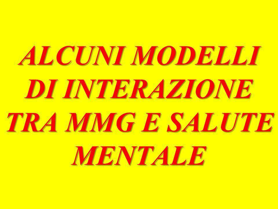 ALCUNI MODELLI DI INTERAZIONE TRA MMG E SALUTE MENTALE