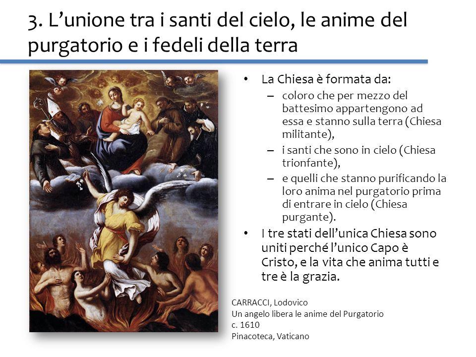 3. L'unione tra i santi del cielo, le anime del purgatorio e i fedeli della terra