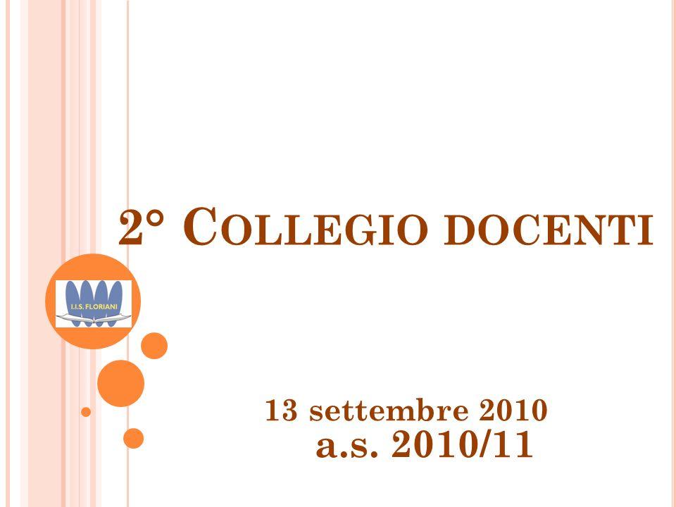 2° Collegio docenti 13 settembre 2010 a.s. 2010/11
