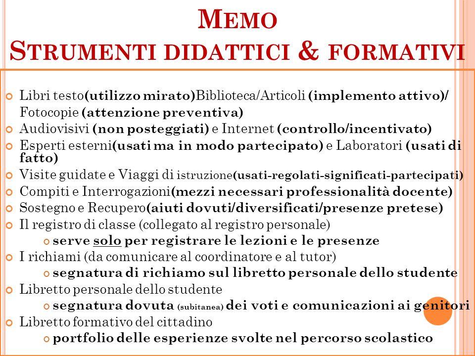 Memo Strumenti didattici & formativi