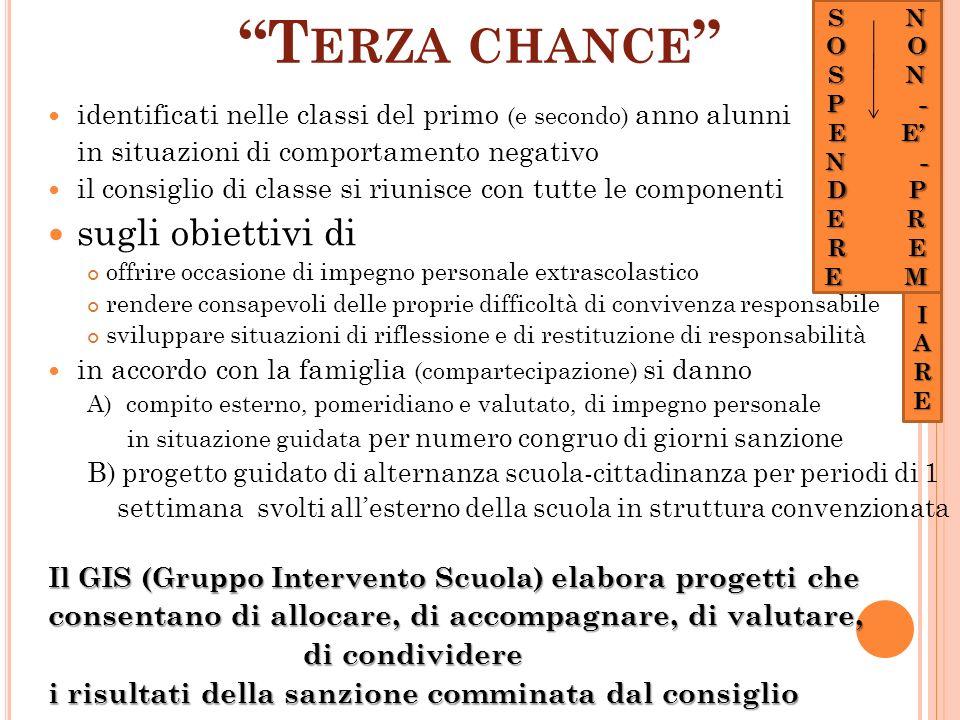 sugli obiettivi di Terza chance