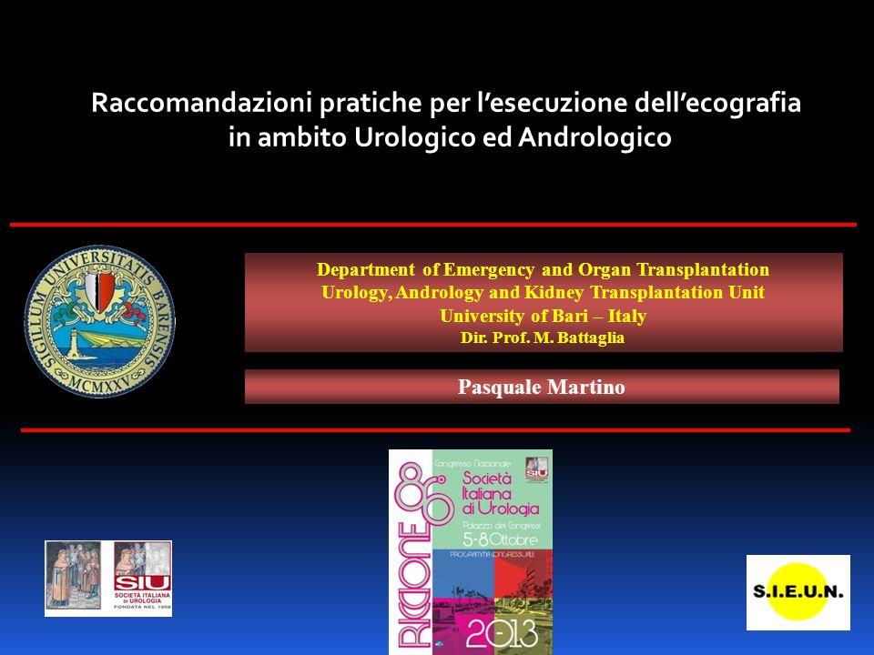 Raccomandazioni pratiche per l'esecuzione dell'ecografia