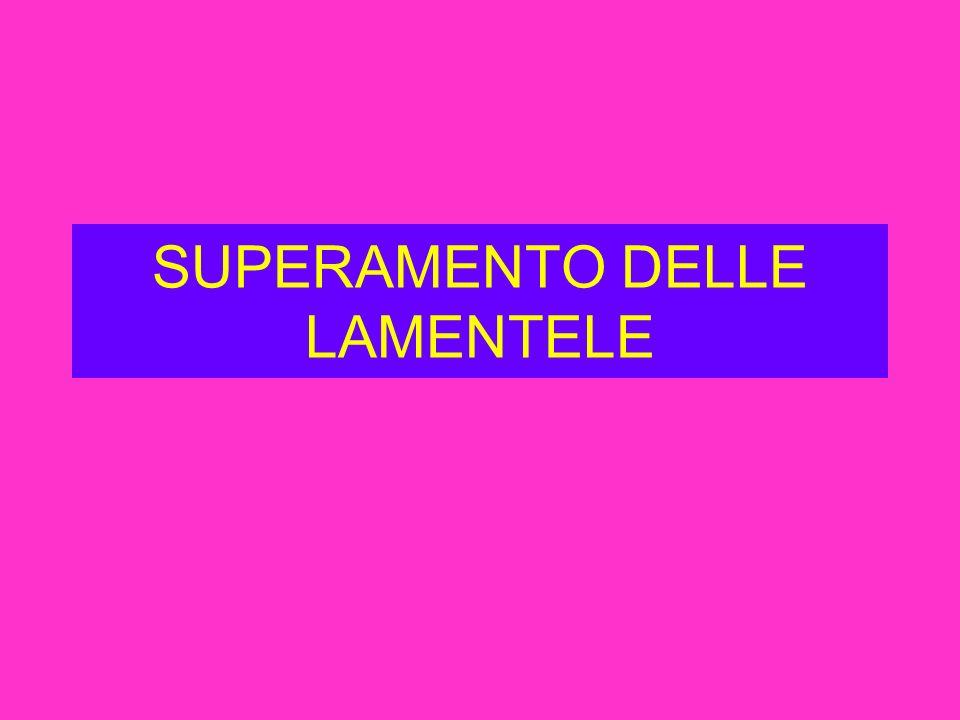 SUPERAMENTO DELLE LAMENTELE