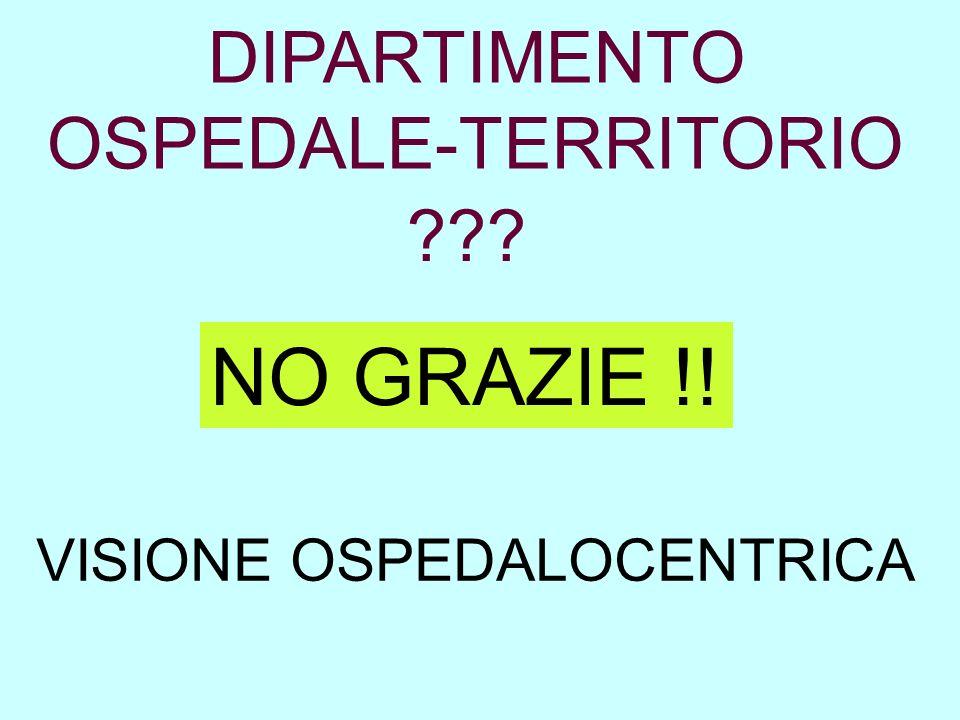 NO GRAZIE !! DIPARTIMENTO OSPEDALE-TERRITORIO