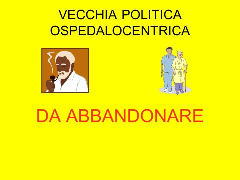 VECCHIA POLITICA OSPEDALOCENTRICA