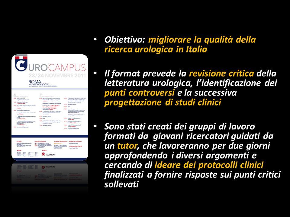 Obiettivo: migliorare la qualità della ricerca urologica in Italia