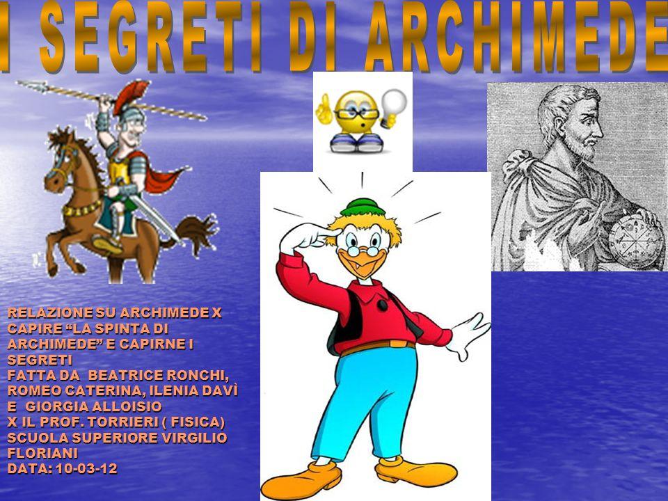 I SEGRETI DI ARCHIMEDE