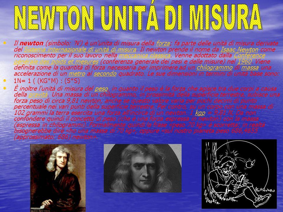 NEWTON UNITÁ DI MISURA