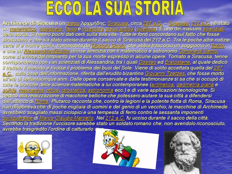 ECCO LA SUA STORIA