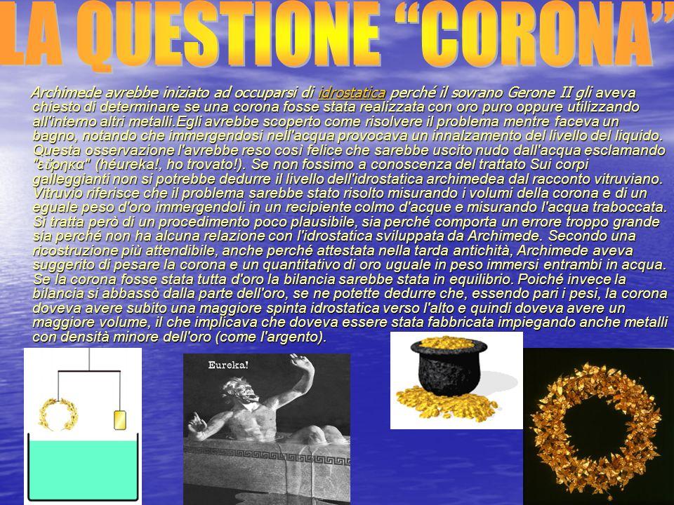 LA QUESTIONE CORONA