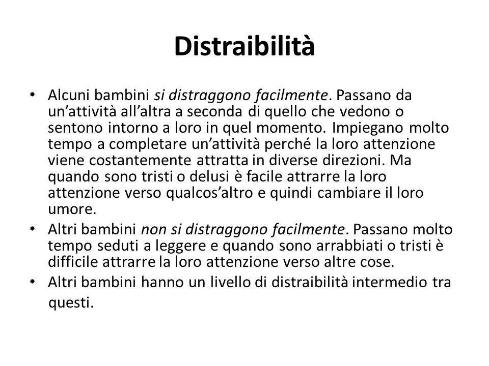Distraibilità