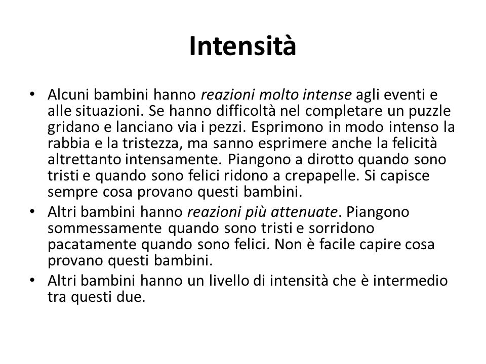 Intensità