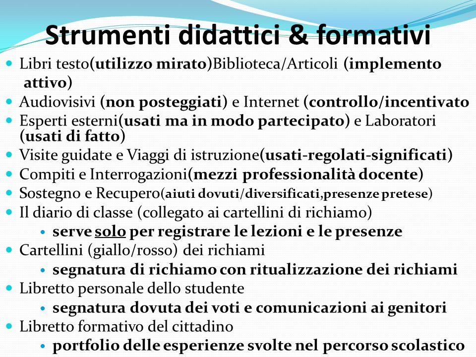Strumenti didattici & formativi
