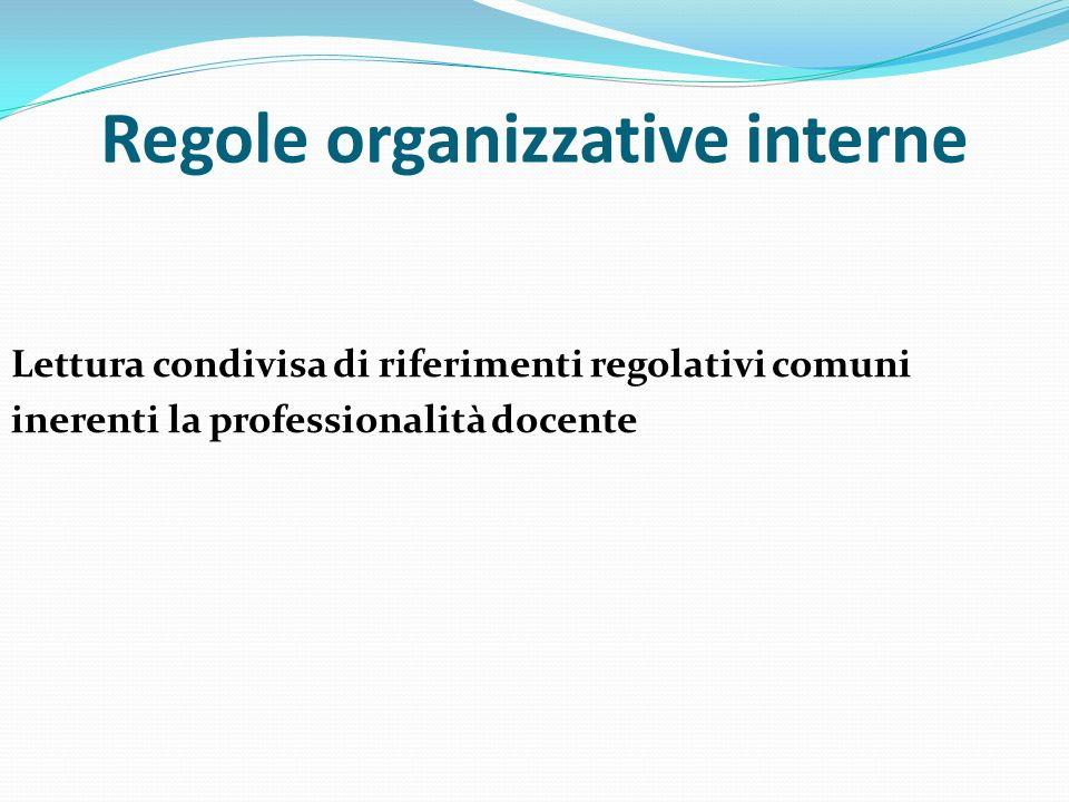 Regole organizzative interne