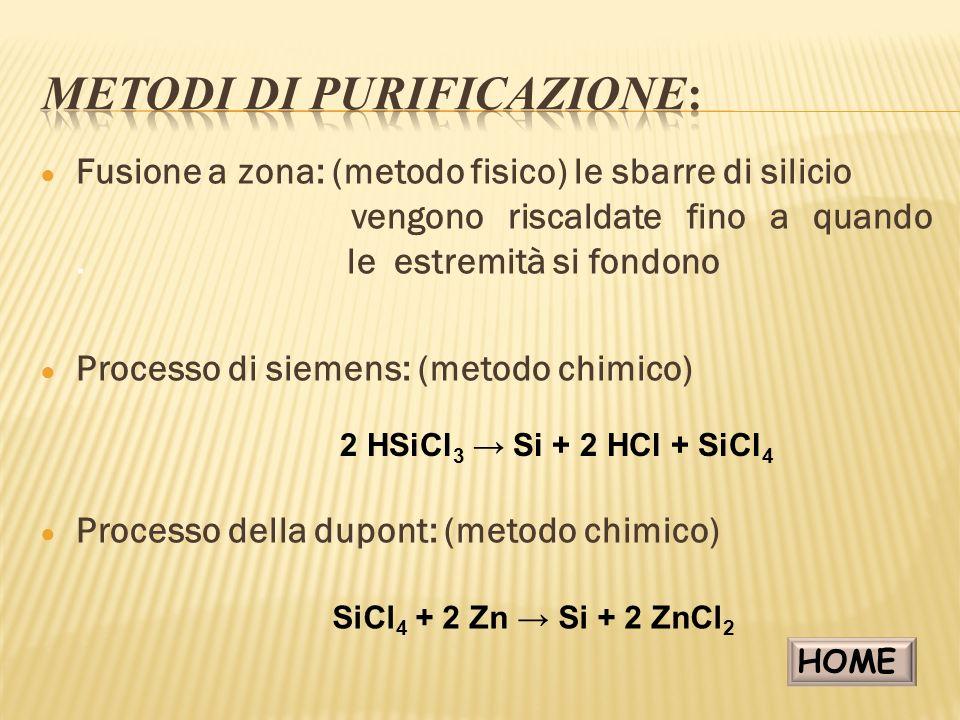 METODI DI PURIFICAZIONE: