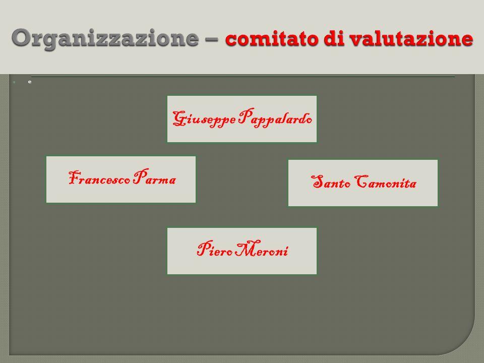 Organizzazione – comitato di valutazione