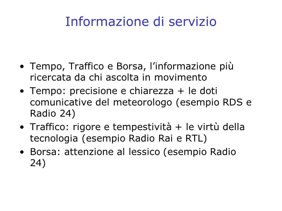 Informazione di servizio