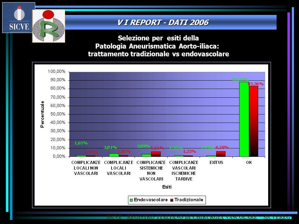 V I REPORT - DATI 2006 Selezione per esiti della