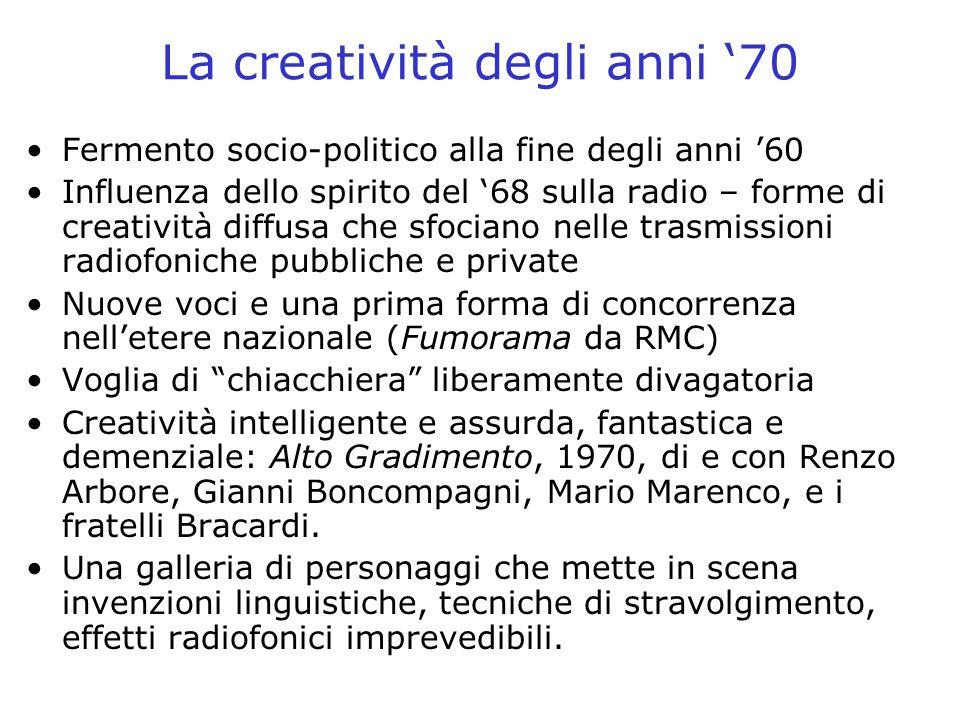 La creatività degli anni '70