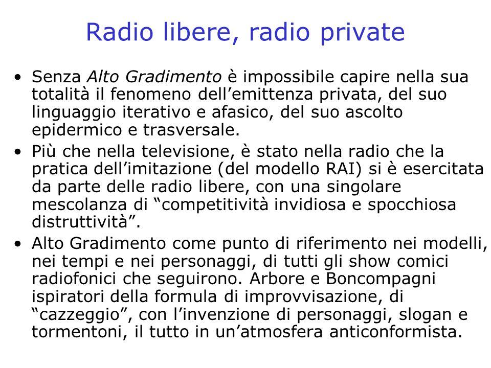 Radio libere, radio private