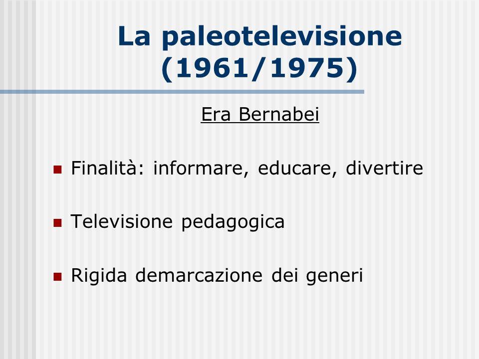 La paleotelevisione (1961/1975)