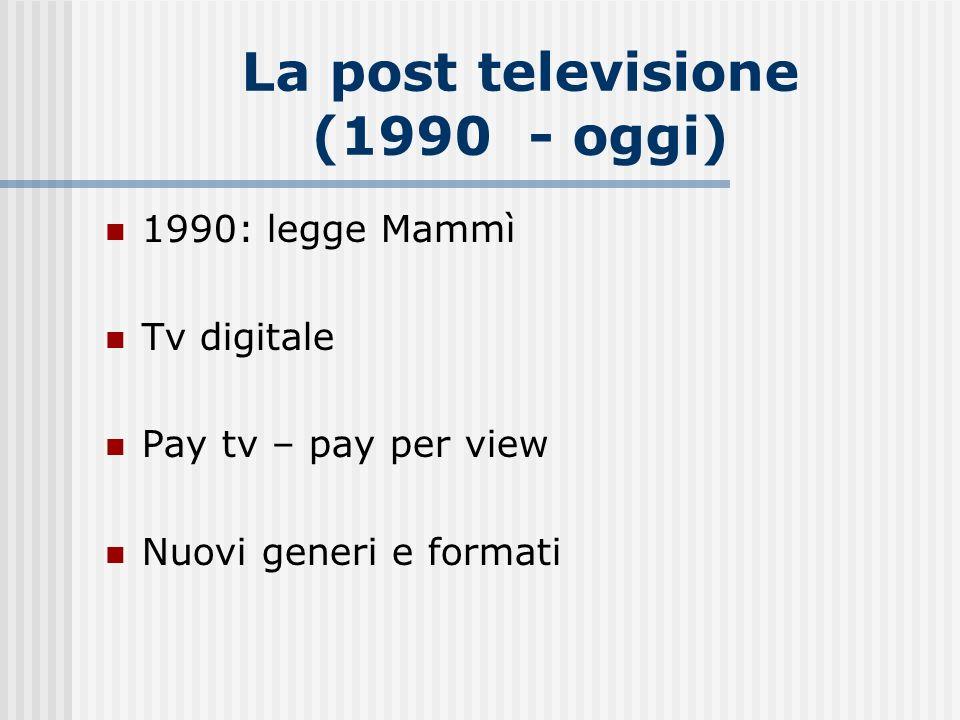 La post televisione (1990 - oggi)