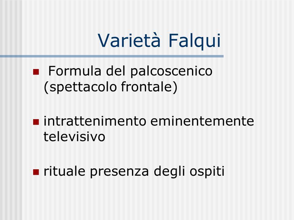 Varietà Falqui Formula del palcoscenico (spettacolo frontale)