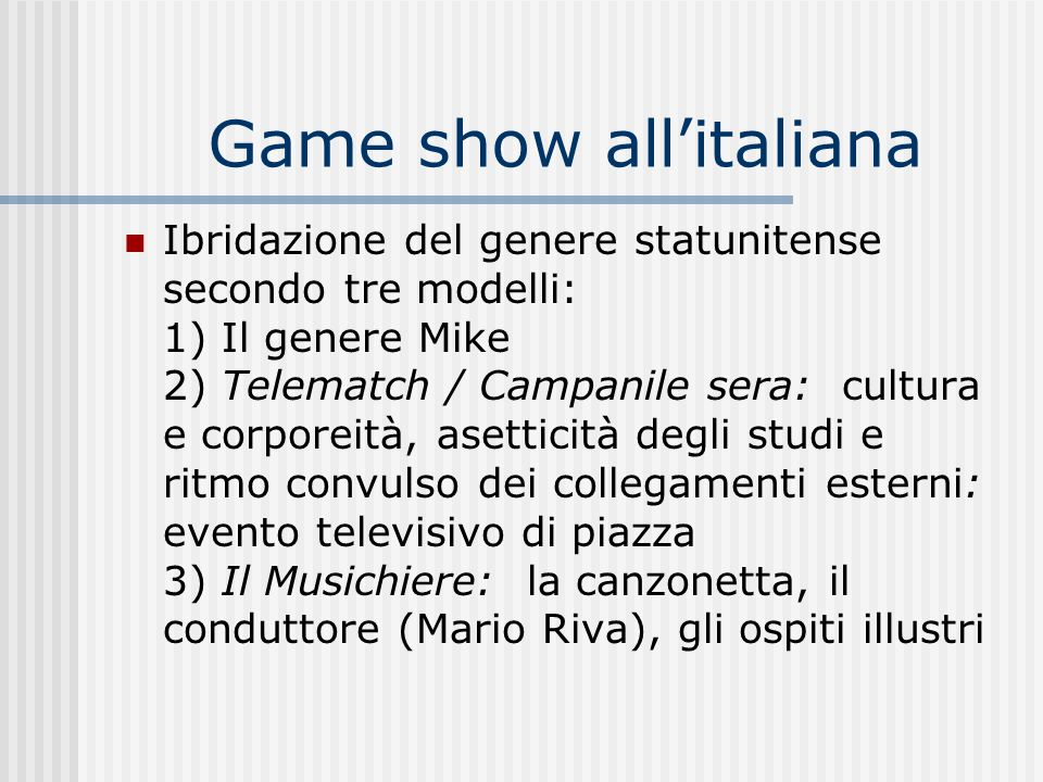 Game show all'italiana