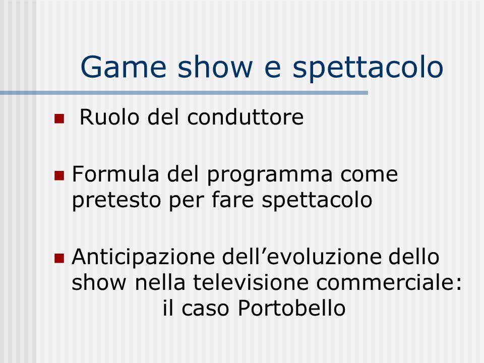 Game show e spettacolo Ruolo del conduttore