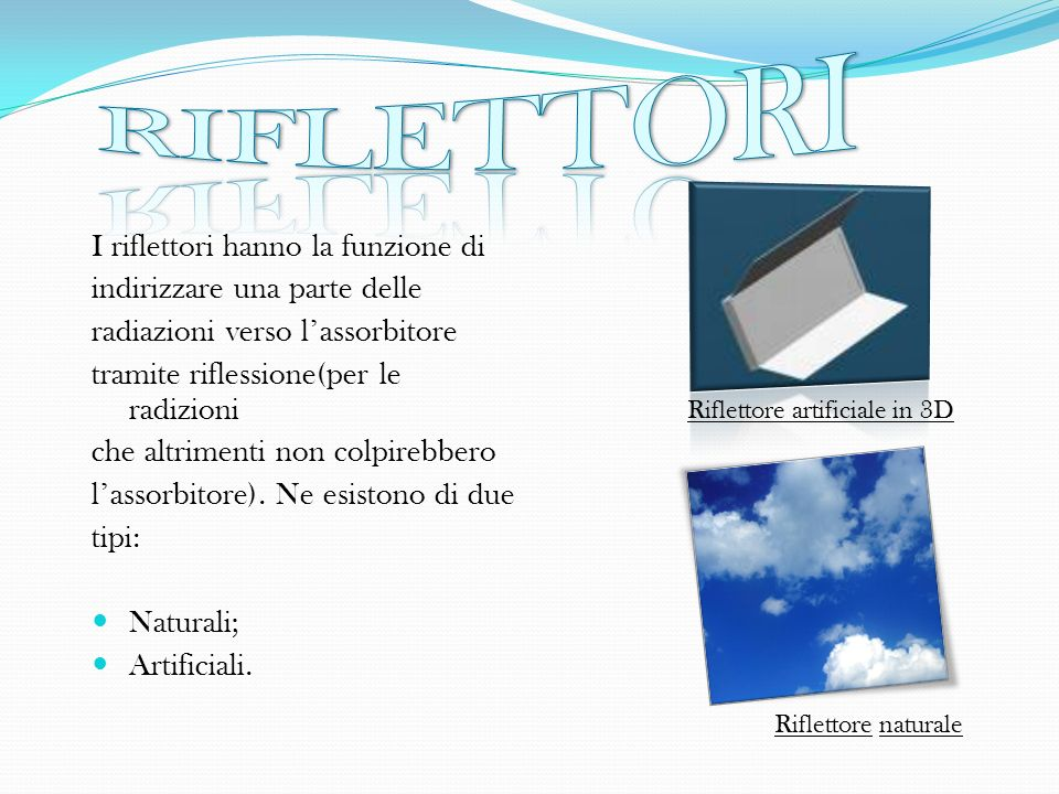 Riflettore artificiale in 3D