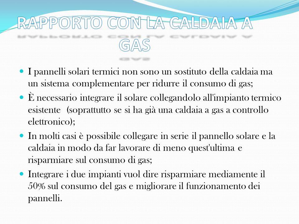 RAPPORTO CON LA CALDAIA A GAS