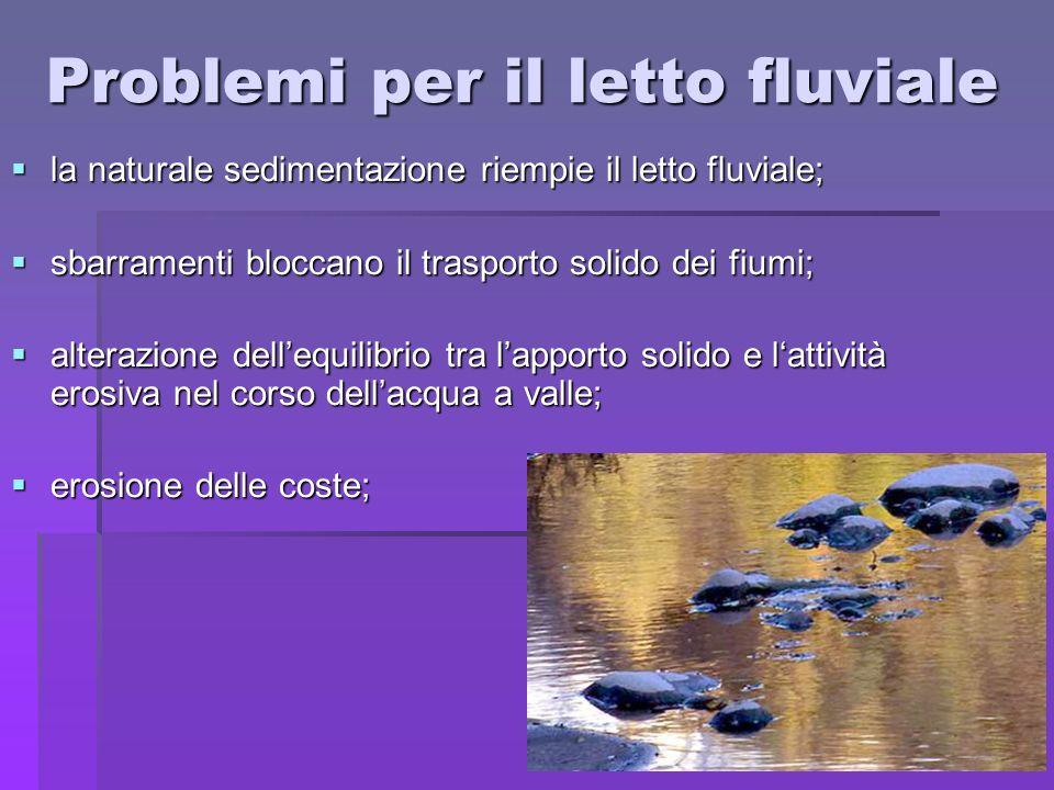 Problemi per il letto fluviale